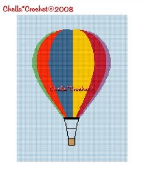 Hot Air Balloon Colorful Afghan Crochet Pattern Graph