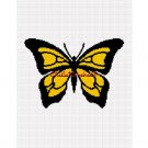 Butterfly Black and Yellow Afghan Crochet Pattern Graph
