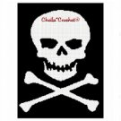 Skull CrossBones Pirate  Afghan Crochet Pattern Graph