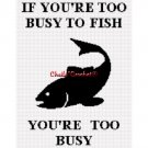 Too Busy To Fish Afghan Crochet Pattern Graph