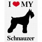 I Love My Schnauzer Dog Afghan Crochet Pattern Graph