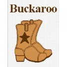 Cowboy Boots Buckaroo Afghan Crochet Pattern Graph