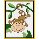 Baby Monkey Jungle Afghan Crochet Pattern Graph 100st