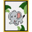 Elephant in Jungle Afghan Crochet Pattern Graph 100st