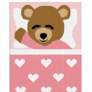 Sleeping Teddy Bear Girl Afghan Crochet Pattern Graph