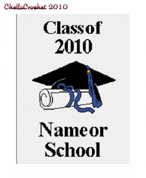 Graduation Class of 2010 Afghan Crochet Pattern Graph
