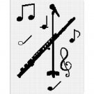 Flute Microphone Music Afghan Crochet Pattern Graph