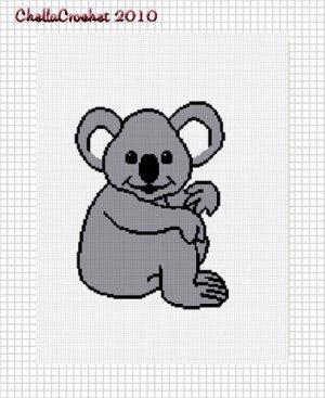 Baby Koala Bear Afghan Crochet Pattern Graph