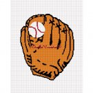 Baseball Glove and Ball Afghan Crochet Pattern Graph