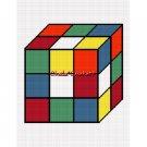 Puzzle Cube Afghan Crochet Pattern Graph Scrap Yarn