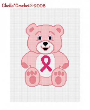 Breast Cancer Teddy Bear Ribbon Afghan Crochet Pattern