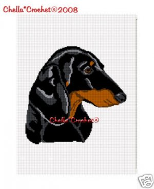 Dachshund Dog  Afghan Crochet Pattern Graph