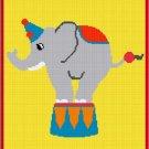 Fun & Easy Circus Elephant Afghan Crochet Pattern Graph