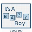 Boy Baby Blocks Afghan Crochet Pattern Graph 100st