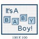 Boy Baby Blocks Afghan Crochet Pattern Graph 100st