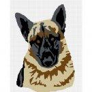 German Shepherd Dog Afghan Crochet Pattern Graph