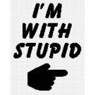 Hand I'm With Stupid Afghan Crochet Pattern Graph