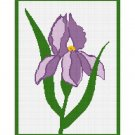 Chella Crochet Beautiful Purple Iris Afghan Crochet Pattern Graph