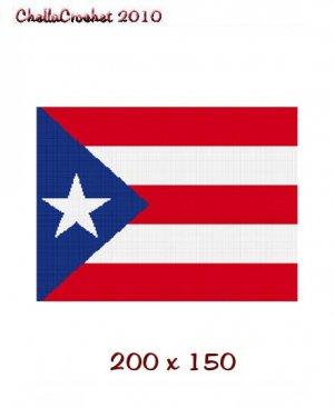 Chella Crochet Puerto Rico Rican Flag  Afghan Crochet Pattern Graph