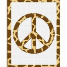 Chella Crochet Giraffe Animal Print Peace Sign Crochet Pattern Graph