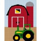 Chella Crochet Baby Tractor Barn Farm Scene Afghan Crochet Pattern Graph