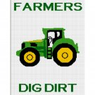Farmers Dig Dirt Tractor Afghan Crochet Pattern Graph