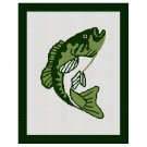 Bass Fish Big Mouth Fly Fishing Blanket Afghan Crochet Pattern Graph