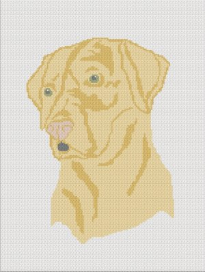 Chella Crochet Yellow Lab Labrador Dog Afghan Crochet Pattern Graph