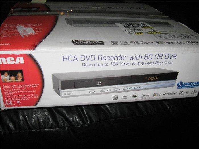 RCA DVD Recorder 80GB DRC8030N. DVR 120 hours record