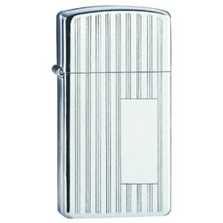 Zippo High Polish Chrome, Slim Ribbon