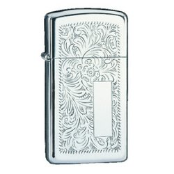 Zippo Venetian Design, Slim, High Polish Chrome