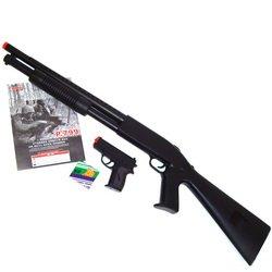 2 pc Pump shotgun w/pistol