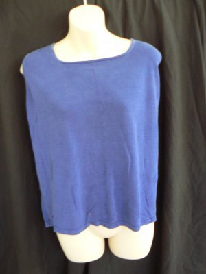 STYLE & CO (MACY'S) purple / violet sweater tank top shell 1X XL