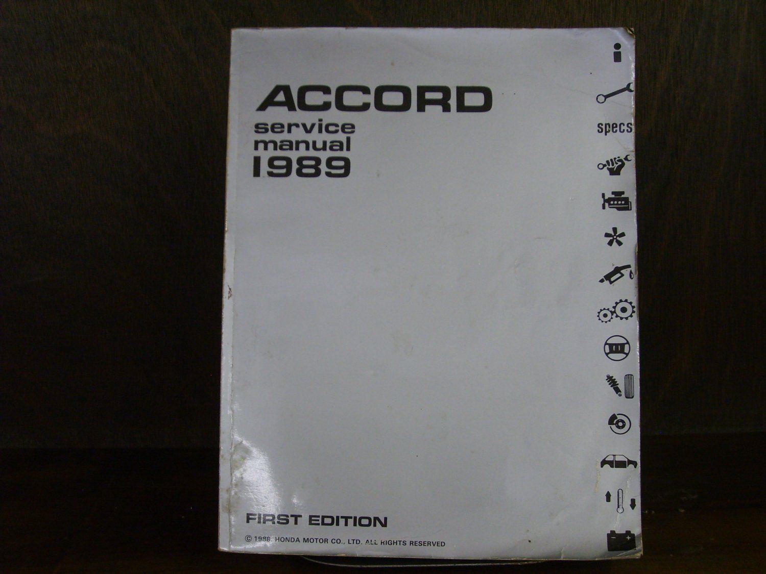 1989 HONDA ACCORD Factory Service Manual Third Generation 86 87 88 89