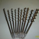 Brace Drill Bits - Assorted  Lot  of 10 Vintage