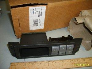 AC Delco # 10409290 Rear Window Wiper & Washer Switch Assembly NEW Ebony
