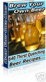 Home Brew Your Own Beer Recipes E-book Cookbook eBook