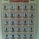 Boxing Poster of the World Heavyweight Champions - 1882 to 1984 - Limit of 5
