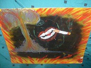 acrylic abstract