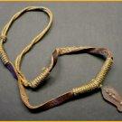 Hemp & Leather Buddha Dharma Amulet Necklace