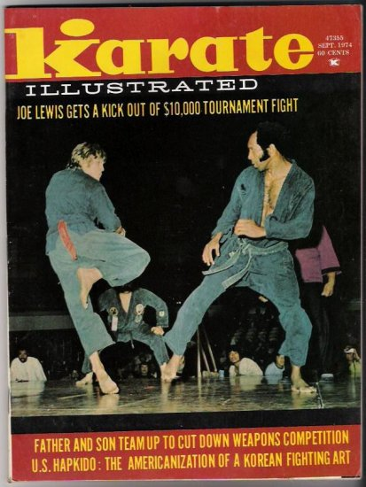 Karate Illustrated Sept. 1974 Joe Lewis Hapkido  Vintage