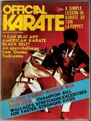 Official Karate- Angela Louise Brown Roy Kurban Dennis Gotcher USKA- Nov.1973- Vintage- Back Issue
