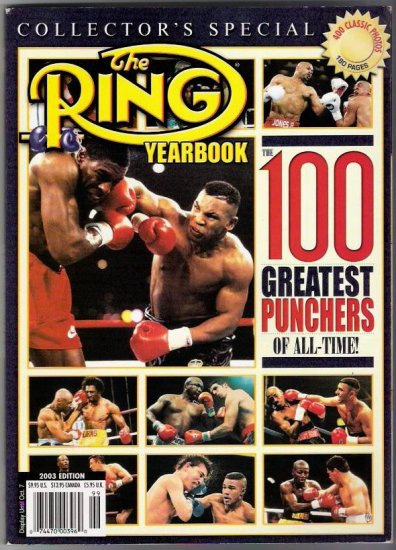 The Ring Yearbook- The 100 Greatest Punchers Of All Time! Collectors Special 400 Classic Photos