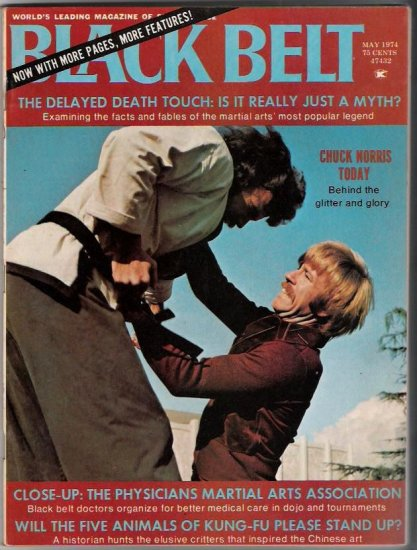 Black Belt-May 1974-Chuck Norris-Martial Arts-Vintage