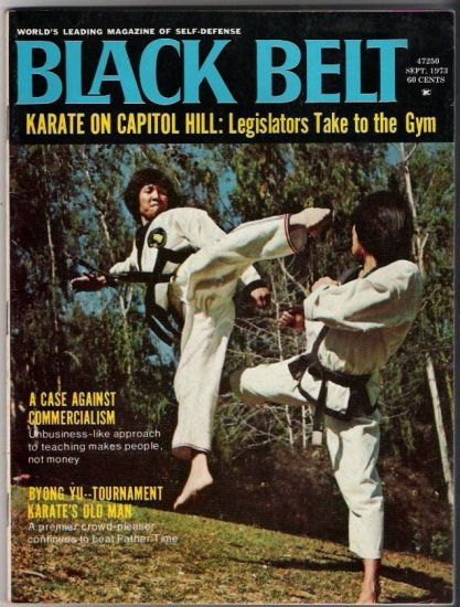 Black Belt Sept. 1973- Karate-Byong Yu- Martial Arts- Vintage