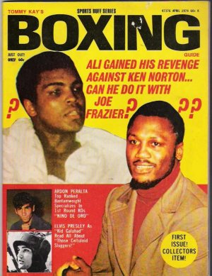 Tommy Kay's Boxing Guide- First Issue- April 1974- Bonus!-Vintage Magazine- Ali Frazier