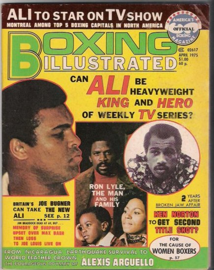 Boxing Illustrated- April 1975- Ali- Ken Norton- Vintage Magazine