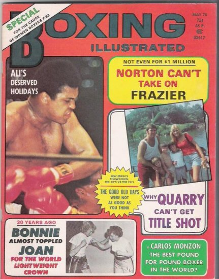 Boxing Illustrated- Special-Norton Frazier-Carlos Monzon-Women Boxing-Vintage Magazine