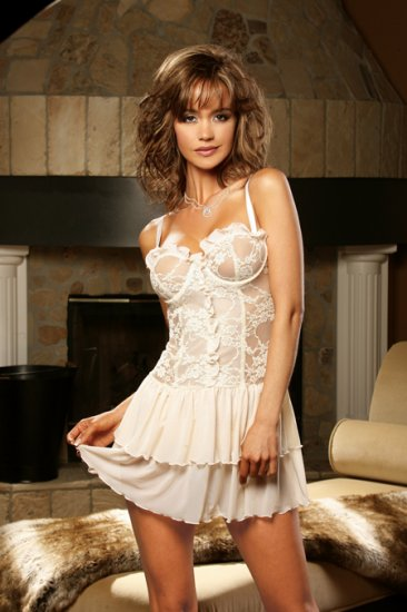 Lace with Mesh Baby Doll