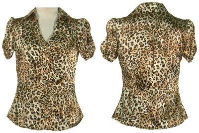 Leopard Runch Sleeve Blouse